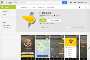 PigeonShip Android App Now Available in Google Play Store